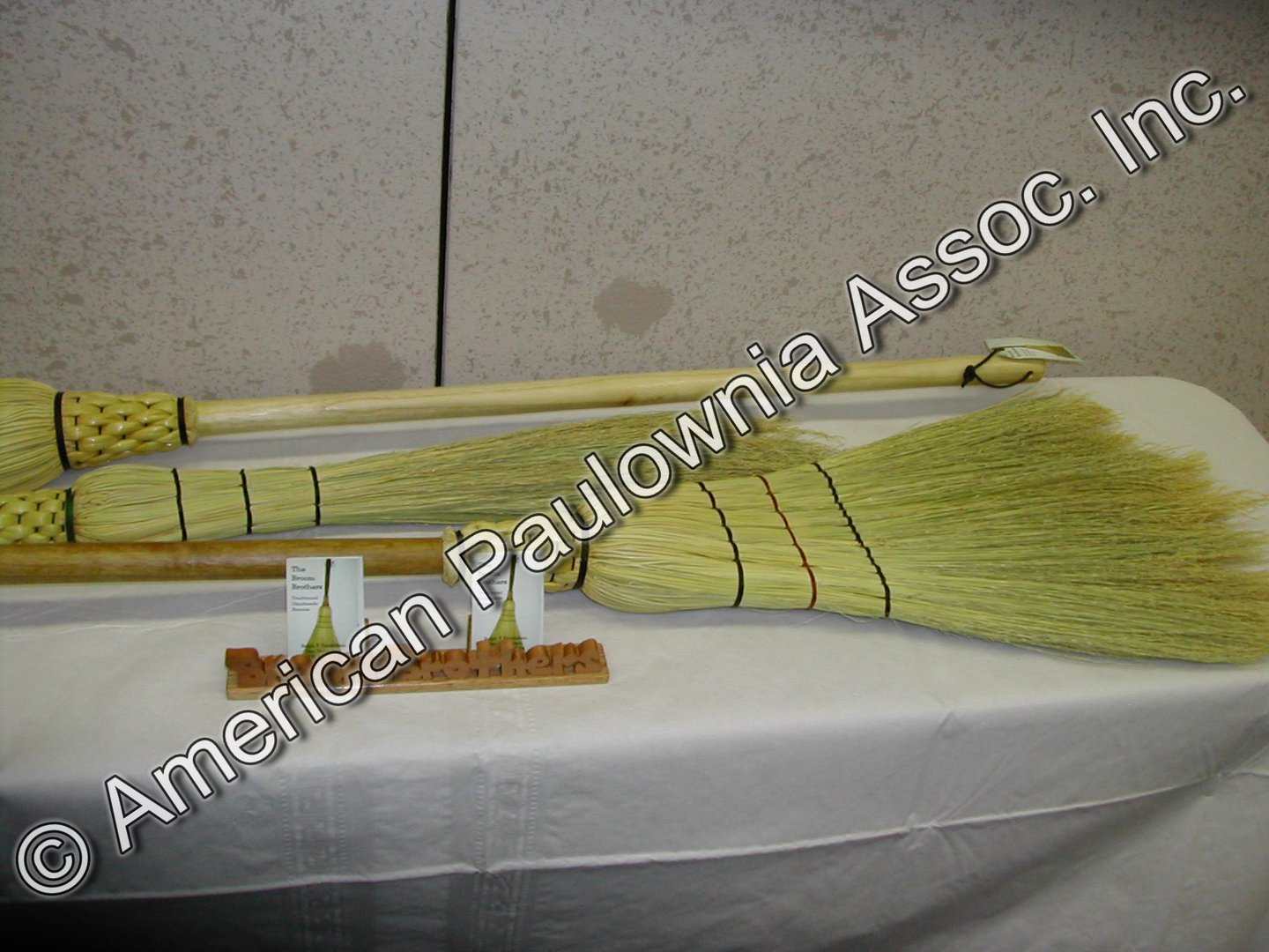 Brooms made from Paulownia & corn cane