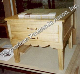 End table made from Paulownia
